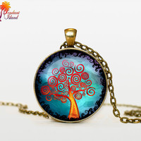 TREE Of Life Pendant  Tree of life Necklace  Jewelry Necklace for him  Art Gifts for Her