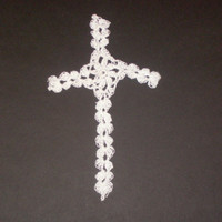 Handmade crochet cross bookmark by CanadianCraftCritter on Etsy