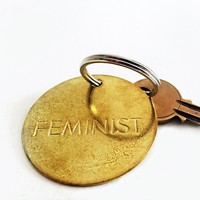 chaparral studio — FEMINIST / LARGE BRASS KEYCHAIN