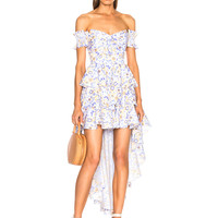 Caroline Constas Artemis Dress in Blue | FWRD