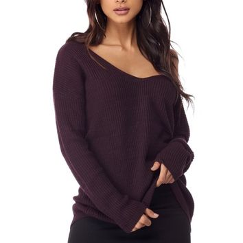 Plum All Stitched Up Pullover
