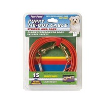 Four Paws Light Weight Puppy/Dog Tie-Out Cable 15 ft