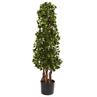 SheilaShrubs.com: 3.5' English Ivy Spiral UV Resistant (In-Door/Out-Door) 5396 by Nearly Natural : Artificial Flowers & Plants