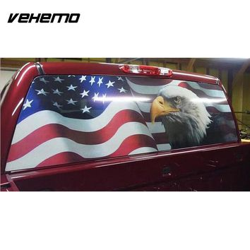 American Flag Eagle Sticker Decal Rear Windshield Decor Car SUV Multicolor