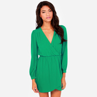 Cuff Sleeve Asymmetrical Mini Dress