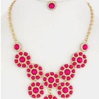 Enamel Bauble Necklace and Earring Set