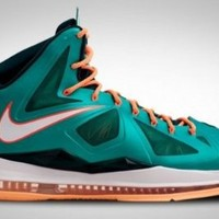 Nike Lebron X (Miami Setting/Dolphins) Atomic teal/Atomic Teal-Orange (11.5)