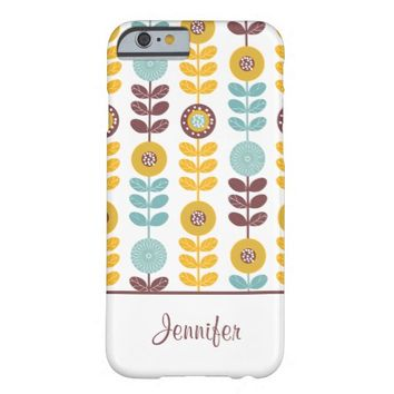 Cute Floral Pattern Barely There iPhone 6 Case