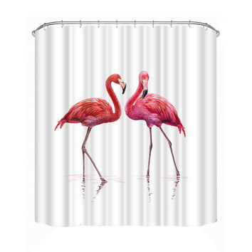 Cool Flamingos Shower Curtain 180*180cm
