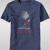 "New! Peanuts ""Linus Munchies"" Officially Licensed Adult T-Shirt Free Ship!"