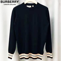 Burberry 2019 new knitted jersey sweater black