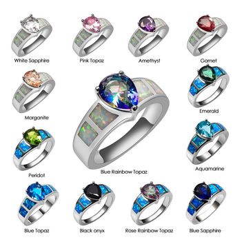 Special Offer! Exquisite Multi Color 925 Sterling Silver Good Quality Ring Beautiful Jewelry For Women Size 6 7 8 9 10