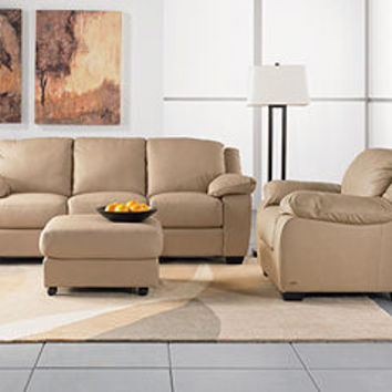 Blair Leather Sofa Living Room Furniture Collection - Living Room Furniture - furniture - Macy's