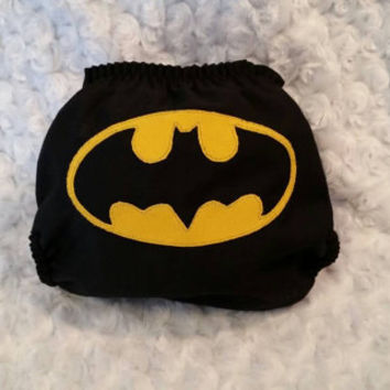 Batman All In One (AIO) Cloth Diaper - One-Size or Newborn, S, M, L