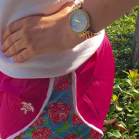 Simply Southern YOUTH Jogger Shorts - Rose Pink