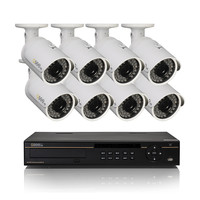 Reconditioned 16 Channel HD Digital Security System with 8 1080p HD IP Bullet Cameras QC8116-8C9-3R