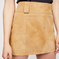 Mod Leather Mini Skirt