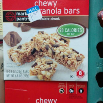 Market Pantry Chocolate Chunk Chewy Granola Bars 8 Count