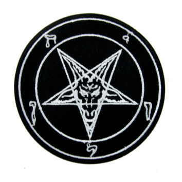 Sabbatic Baphomet Goat Head Patch Iron on Applique Occult Clothing