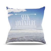 "Susannah Tucker ""Seek Adventure"" Beach Throw Pillow"