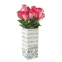 Personalized Vine Cursive Wedding Vase