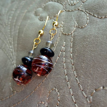 Astronomer Beaded Earrings by EudaimoniaJewelry on Etsy