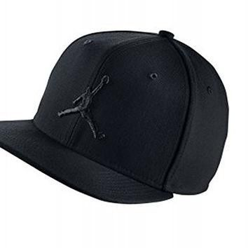 NIke JORDAN JUMPMAN Adjustable Strapback Hat 619360 011 Black One size fits all