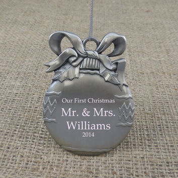 Personalized Christmas Ornament- Couples Gift- Anniversary gift
