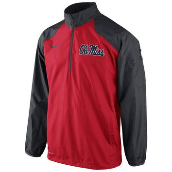 Nike Ole Miss Rebels Lockdown Half-Zip Storm-FIT Performance Jacket - Men