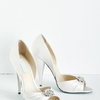 Betsey Johnson Luxe Fancy and You Know It Heel in Ivory