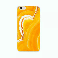 iPhone 6 Case Marble Orange iPhone 6 Plus Soft Case Granite Pattern Silicone Cover For iPhone 6s Slim Design Case Gold Stone 3344