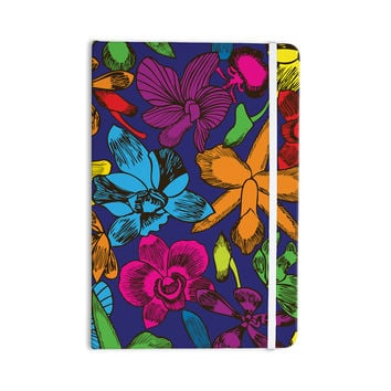 "Yenty Jap ""Lovely Orchids"" Multicolor Floral Everything Notebook"
