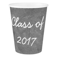 Class of 2017 Reunion Graduation Party Chalkboard Paper Cup
