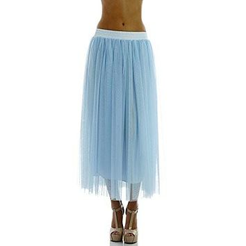 Women Straight bottom Tulle Tutu Dance Skirt