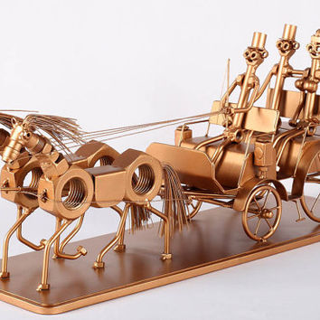 Chariot -  Metaldiorama Metal Art Sculpture