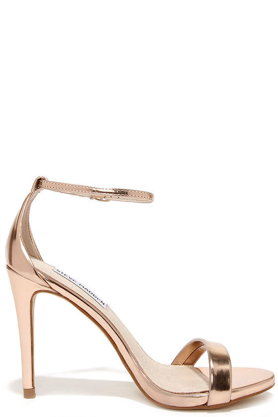 e7b8799f3717 Steve Madden Stecy Rose Gold Ankle Strap from Lulu s