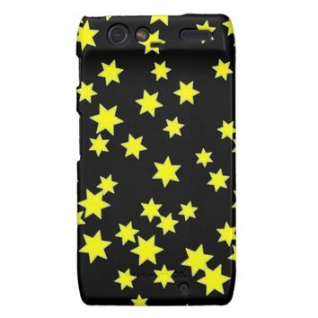 Yellow Stars Motorola Droid RAZR Cover