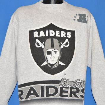90s Los Angeles Raiders NFL Double Sided Sweatshirt Large