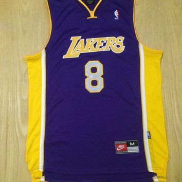 KUYOU Los Angeles Lakers Kobe Bryant Purple 100% Authentic Jersey