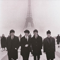 The Beatles Paris Eiffel Tower Poster 22x34