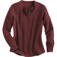 Women's Waffle Longtail T Thermal Henley