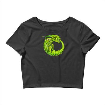 alien ouroboros Crop Top