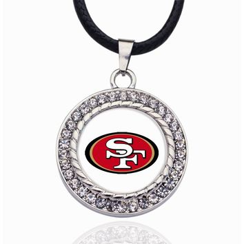 Wimpy kid San Francisco 49ers Pendant Necklace Best Gift for /Women/Girl/Men/Mom Handmade Jewelry 2pcs/lot