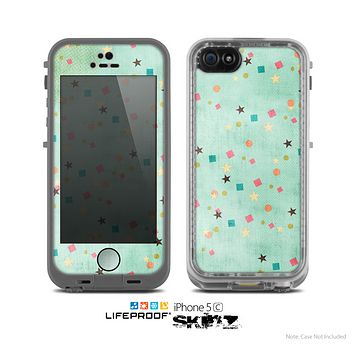 The Vintage Green Shapes Skin for the Apple iPhone 5c LifeProof Case