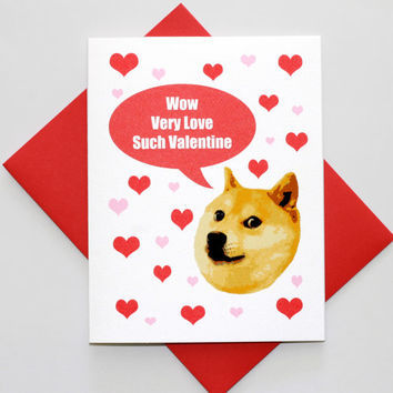 Doge Valentine's Day Funny Meme Greeting Card Pop Culture