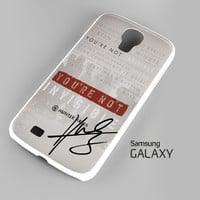 Hunter Hayes Quote A0288 Samsung Galaxy S3 S4 S5 Note 3 Cases - Galaxy