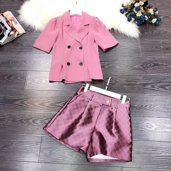 Top Gift Gucci Women Fashion RED Leisure Tracksuit Two Piece Suit Set