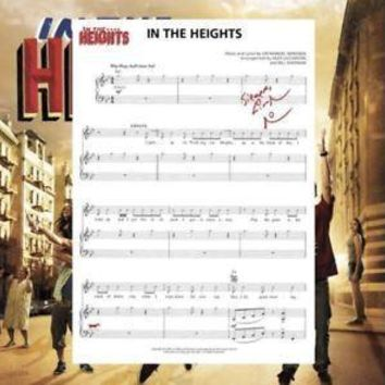 In The Heights Sheet Music SIGNED