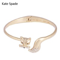 Kate Spade New fashion fox diamond opening personality bracelet women Golden