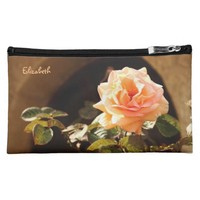 Abstract Pastel Flowers Drawing Cosmetic Bag